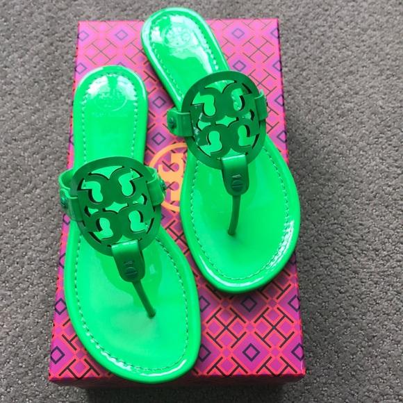 9e9b53d6596a NWT NIB Tory Burch Miller fluorescent 8.5 sandal